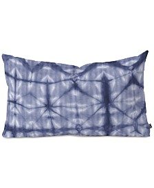 Deny Designs Amy Sia Tie Dye 2 Navy Oblong Throw Pillow