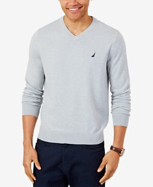 Nautica Men's Lightweight Jersey V-Neck Sweater