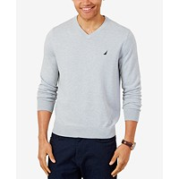 Nautica Mens Lightweight Jersey V-Neck Sweater