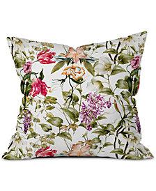 Deny Designs Marta Barragan Camarasa Detailed Botanical Garden Throw Pillow