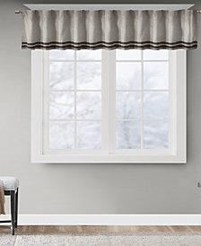 "Madison Park Dune Microsuede Stripe 50"" x 18"" Window Valance"