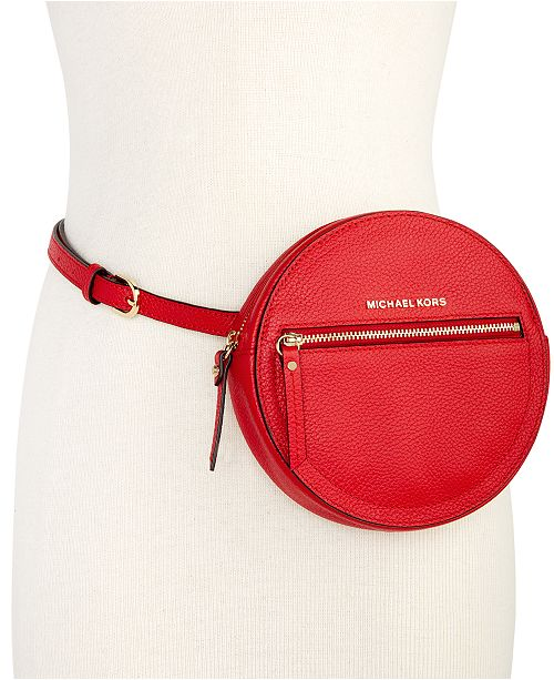 Round Pebble Leather Fanny Pack
