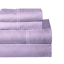 Pointehaven Printed 4-Pc. California King Sheet Set, 300 Thread Count Cotton Sateen