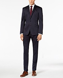 Men's Skinny-Fit Ready Flex Stretch Solid Shine Suit