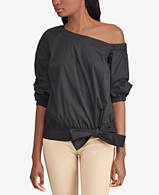 Lauren Ralph Lauren Petite One-Shoulder Top
