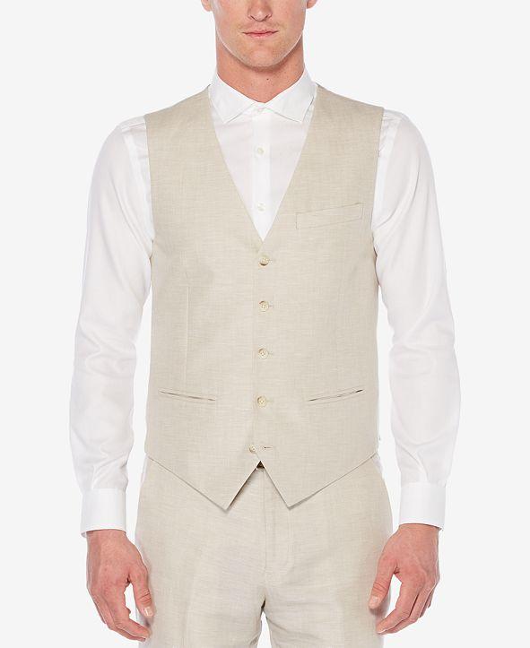 Centennial Perry Ellis Men's Linen Herringbone Vest