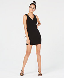 Trixxi Juniors' Lace-Up Bodycon Dress