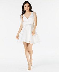 Dancing Queen Juniorsu0027 Embellished Fit u0026 Flare Dress