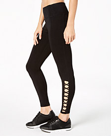 Calvin Klein Performance High-Waist Lattice-Detail Leggings