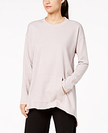 Calvin Klein Performance Long-Sleeve Tie-Back Top