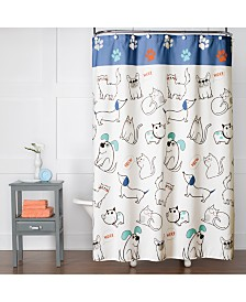 "Saturday Knight Pet Playground Printed 70"" x 72"" Shower Curtain"