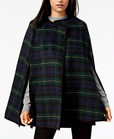 Lauren Ralph Lauren Tartan Plaid Cape