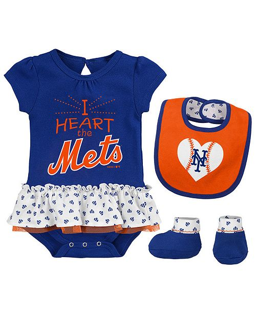 sneakers for cheap 06ad9 95d9e Outerstuff New York Mets Bib & Booty Set, Infant Girls (0-9 ...