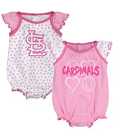 Outerstuff St. Louis Cardinals Heart Creeper Set, Infants (0-9 Months)