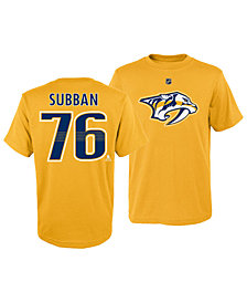 Outerstuff P.K. Subban Nashville Predators Player T-Shirt, Little Boys (4-7)
