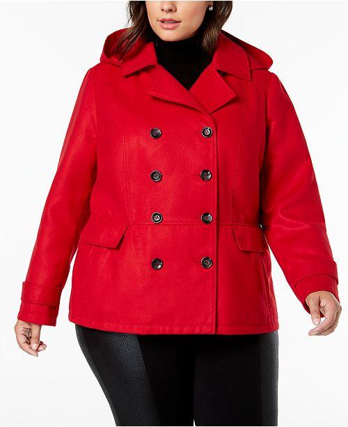 b5034693d49 Celebrity Pink Juniors  Plus Size Hooded Peacoat   Reviews - Coats ...