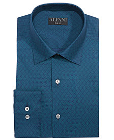 AlfaTech by Alfani Men's Slim-Fit Performance Stretch Lattice Diamond Print Dress Shirt, Created for Macy's