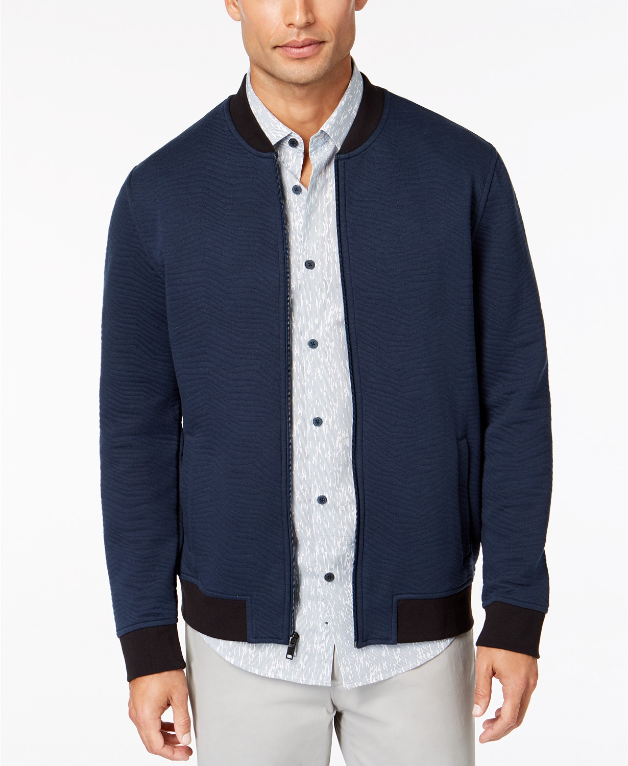 Alfani Men's Textured Bomber Jacket