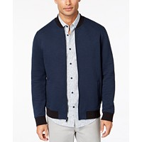 Deals on Alfani Mens Textured Bomber Jacket