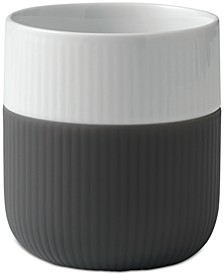 Anthracite Fluted Contrast Mug
