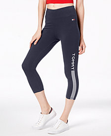 Tommy Hilfiger Sport Cropped Logo Leggings, Created for Macy's