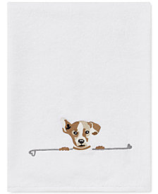 ED Ellen DeGeneres Puppy Love Cotton Embroidered Bath Towel