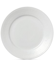 White Fluted Salad Plate