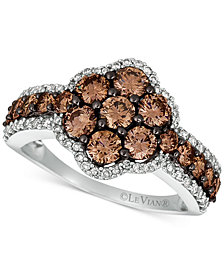 Le Vian® Diamond Cluster Ring (1-9/10 ct. t.w.) in 14k White Gold