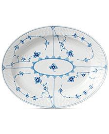 Royal Copenhagen Blue Fluted Plain Large Oval Platter