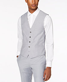 I.N.C. Men's Slim-Fit Gray Suit Vest, Created for Macy's