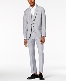 I.N.C. Men's Slim-Fit Gray Vested Suit Separates, Created for Macy's