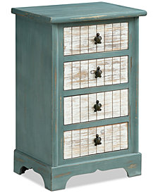 Curri Four-Drawer Accent Chest, Quick Ship