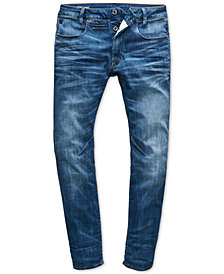 G-Star RAW Men's Slim-Fit Stretch Medium Indigo Aged Jeans, Created for Macy's