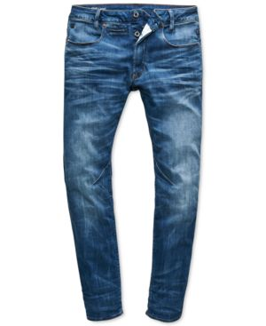 G-Star Raw Men's Slim-Fit Stretch Medium Indigo Aged Jeans, Created for Macy's 6531113