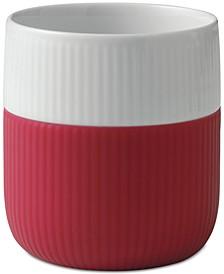 Raspberry Fluted Contrast Mug