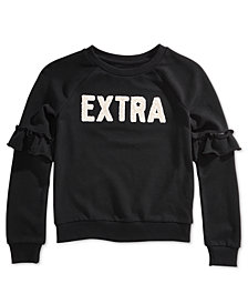 Epic Threads Big Girls Ruffle-Sleeve Sweatshirt, Created for Macy's