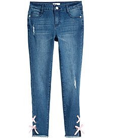 Epic Threads Big Girls Lace-Up Jeans, Created for Macy's