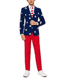 OppoSuits Little Boys 3-Pc. Stars & Stripes Suit & Tie Set