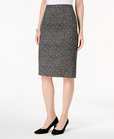 Kasper Knit Jacquard Slim Pencil Skirt, Regular & Petite Sizes