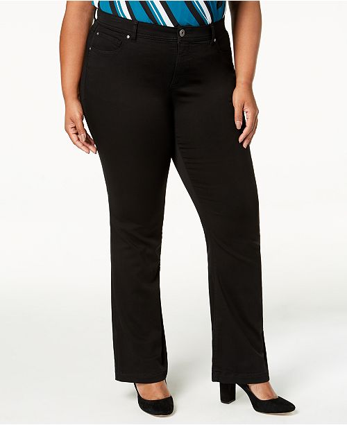 INC International Concepts INC Plus Size & Petite Plus Bootcut Jeans, Created for Macy's
