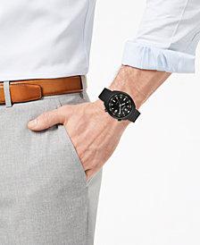 Bulova Accutron II Men's Black-Tone Stainless Steel Bracelet Watch 44mm 98B247