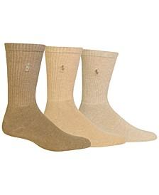 3 Pack Ribbed Cushion Foot Crew Men's Socks