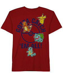 Pokémon Little Boys Graphic-Print Cotton T-Shirt