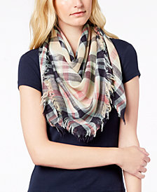 Echo Goa Plaid Square Bandana Scarf