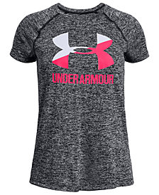 Under Armour Big Girls Logo-Print T-Shirt