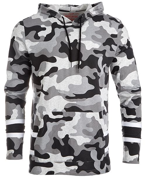 b67f0cdad4d6 American Rag Men's Varsity Camouflage Hoodie, Created for Macy's ...
