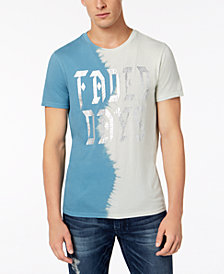 GUESS Men's Faded Days Colorblocked Metallic Graphic T-Shirt