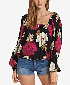 Billabong Juniors' Printed Peasant Top
