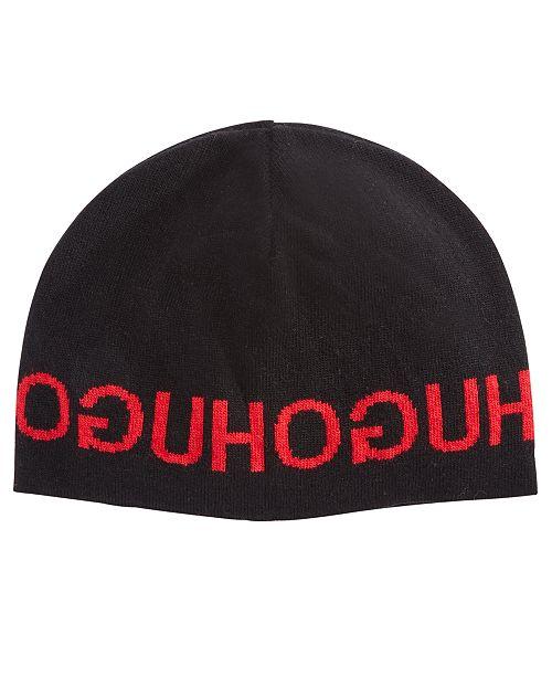 6a9b013c Hugo Boss Men's Knit Logo Hat & Reviews - Hats, Gloves & Scarves ...