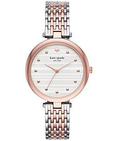 kate spade new york Women's Two-Tone Stainless Steel Bracelet Watch 36mm